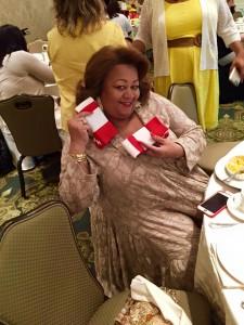 Sock Winner at Spring Tea Event
