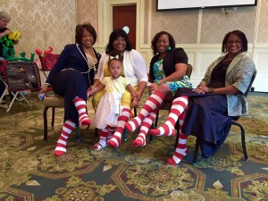 Family with RMHC Socks