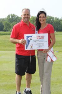 Vinni Golf Outing Hole Sponsor with Miss Michigan