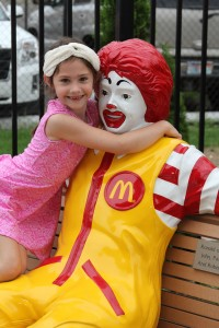 Child with Ronald Statue