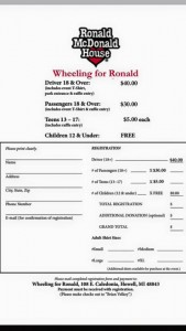 Wheeling For Ronald Form